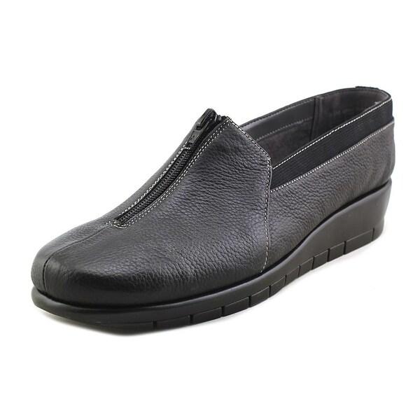 Aerosoles Great Plan Women Round Toe Leather Black Loafer