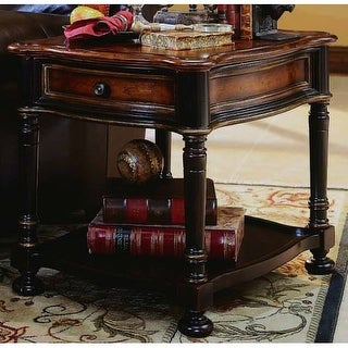 Hooker Furniture 864-80-113 28 Inch Long Hardwood End Table from the Preston Rid