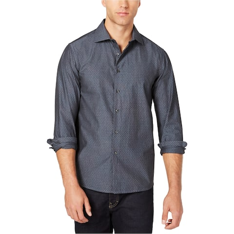 Tallia Mens Micro Print Button Up Shirt
