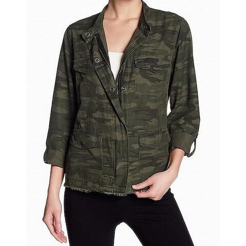 Sanctuary Green Womens Size XS Camoflauge Print Military Jacket