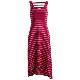 Marc New York by Andrew Marc Womens Maxi Striped Performance Dress Pink S