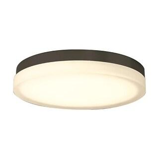 "WAC Lighting FM-4115 Slice Single Light 14"" Wide Integrated LED Outdoor Flush Mount Drum Ceiling Fixture"