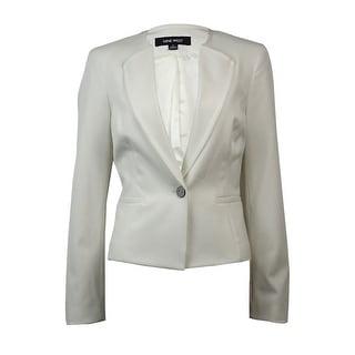 Nine West Women's Single Button Faux Pocket Blazer - Lily