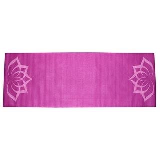 Gym Fitness Training Yoga Pilates Exercise Pad Mat Light Purple 4mm Thickness