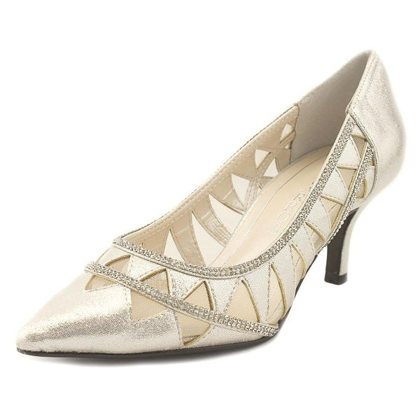 Caparros Fabulous Women Pointed Toe Synthetic Silver Heels