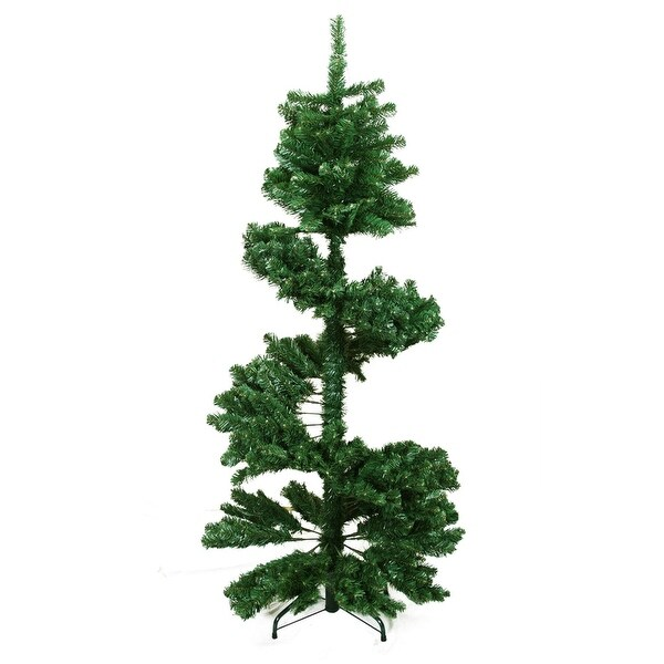 7' Spiral Pine Artificial Christmas Tree - Unlit - green