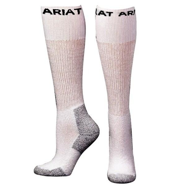 Ariat Socks Mens Performance Work Over the Calf 3 pack White