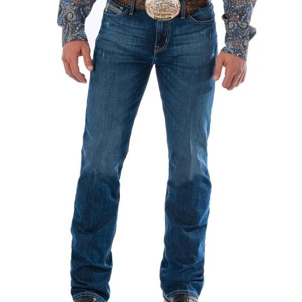 f37289cc Shop Cinch Western Jeans Mens Ian Mid Rise Slim Boot Dark Stone ...