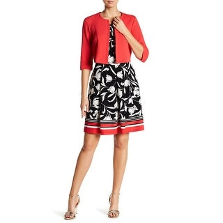 Signsture by Robbie Bee Black Women Large L Floral 2-PC A-Line Dress