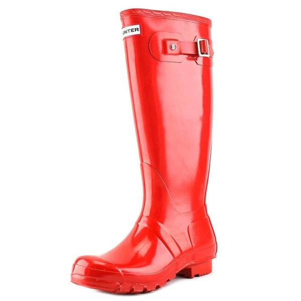 Hunter Original Gloss   Round Toe Synthetic  Rain Boot