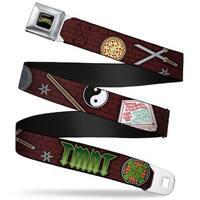 Classic Tmnt Logo Full Color Classic Teenage Mutant Ninja Turtles Gear Seatbelt Belt