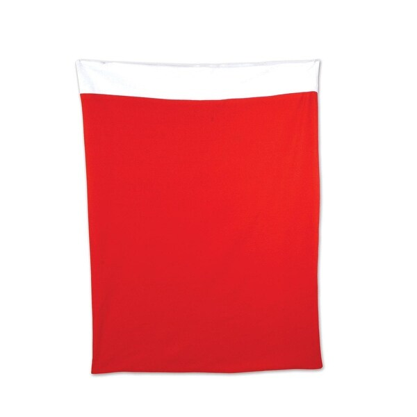 "Plush Santa Gift Sack - Bags:Fabric:Winter/Christmas: 30\xBD"" x 3' 4"""