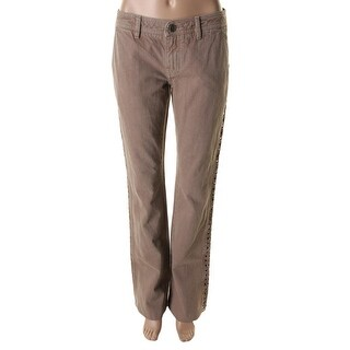 Catherine Malandrino Womens Colored Cut-Out Straight Leg Jeans - 4
