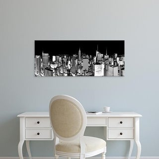 Easy Art Prints Panoramic Images's 'Aerial view of cityscape, New York City, New York State, USA' Premium Canvas Art