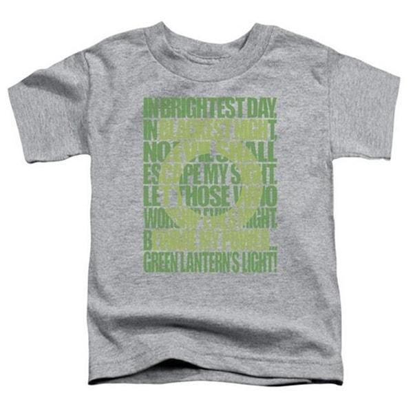 Green Lantern-Green Lantern Oath Short Sleeve Toddler Tee,
