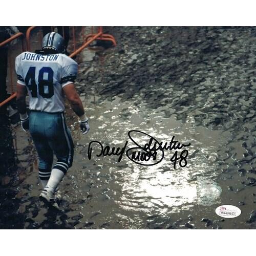 buy online e1373 d31b4 Daryl Johnston Autographed Dallas Cowboys 8x10 Photo Muddy JSA