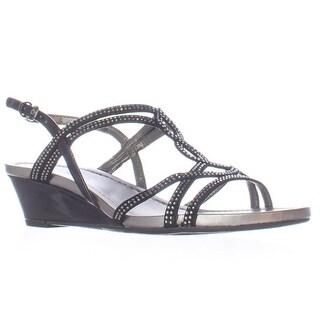 Bandolino Gilnora Wedge Dress Sandals - Black/Black