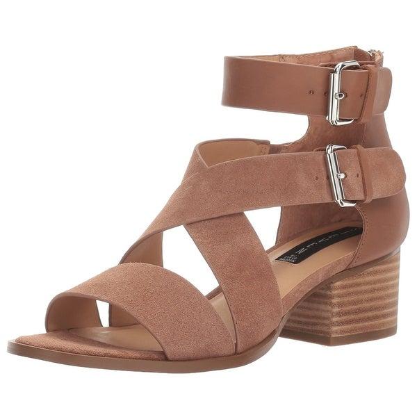 STEVEN by Steve Madden Womens Elinda Leather Open Toe Casual Ankle Strap Sand...