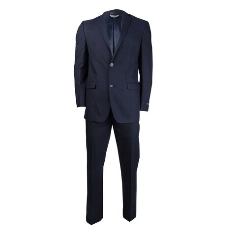 Marc New York Men's 2PC Suit (40L 33W, Navy) - navy - 40 long 33wx33l