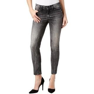 Calvin Klein Jeans Womens Skinny Jeans Denim Distressed