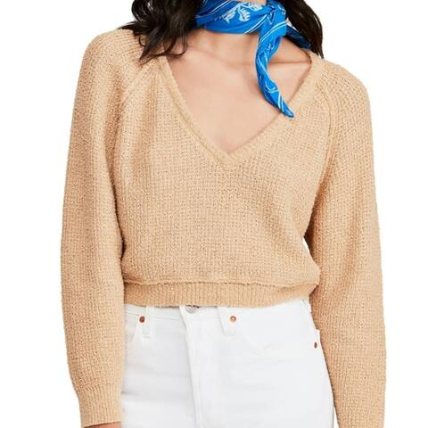 Free People High Low V-Neck Sweater De Soleil