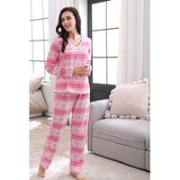 Richie House Women's Soft and Warm Fleece Two-piece Set