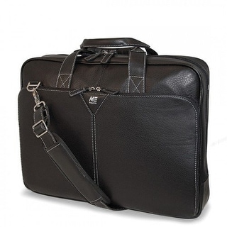 Mobile Edge MBLMEBCL1M Mobile Edge Deluxe Leather Briefcase- 16-Inch PC 17-Inch MacBook Pro
