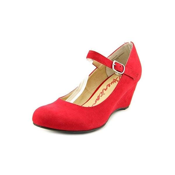 American Rag Meesha Women Open Toe Canvas Red Wedge Heel
