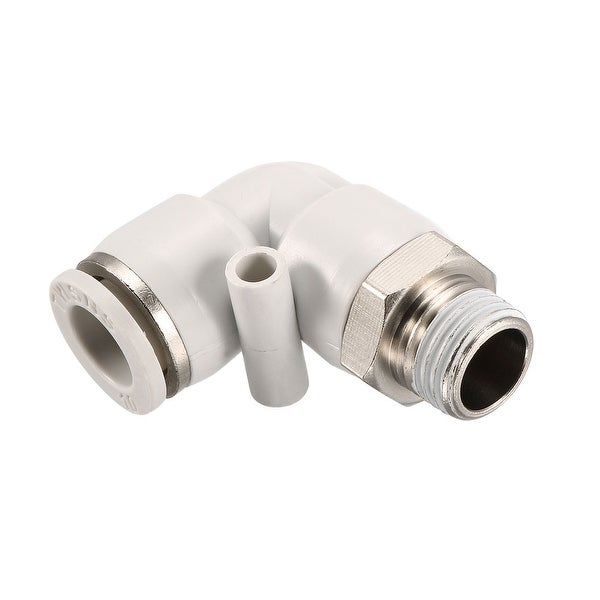 Pneumatic Push To Connect Fitting Male Elbow 10mm Tube OD X 1/4PT Thread