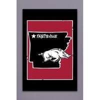 University of Arkansas - State Logo Garden Flag