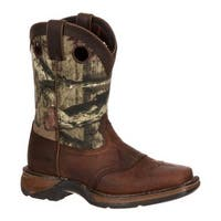 "Durango Boot Children's DBT0121 Lil' Rebel 8"" Saddle Distressed Brown/Camo Leather"