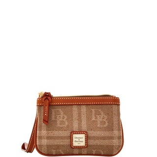 Dooney & Bourke DB Plaid Jacquard Medium Wristlet (Introduced by Dooney & Bourke at $58 in Jul 2016) - Tan