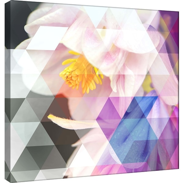"""PTM Images 9-101212 PTM Canvas Collection 12"""" x 12"""" - """"Crystalized Bellflowers"""" Giclee Flowers Art Print on Canvas"""
