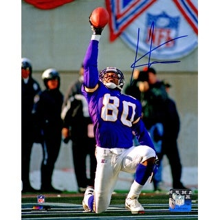Cris Carter Minnesota Vikings Touchdown Celebration Football Raise 8x10 Photo