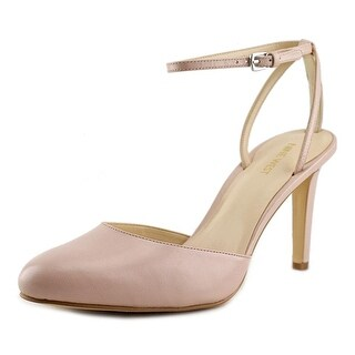 Nine West Honsity Women Round Toe Leather Pink Heels