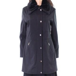 Jessica Simpson NEW Black Womens Size Small S Faux-Fur Collar Jacket