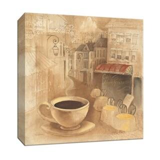 """PTM Images 9-151936  PTM Canvas Collection 12"""" x 12"""" - """"Cafe de Paris I"""" Giclee Coffee, Tea & Espresso Art Print on Canvas"""