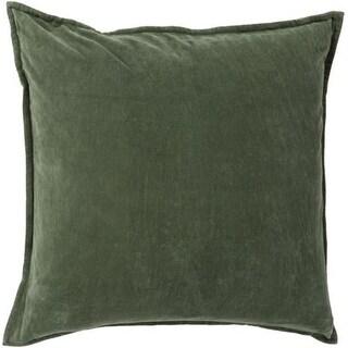 "18"" x 18""Emerald Green Decorative Square Throw Pillow"