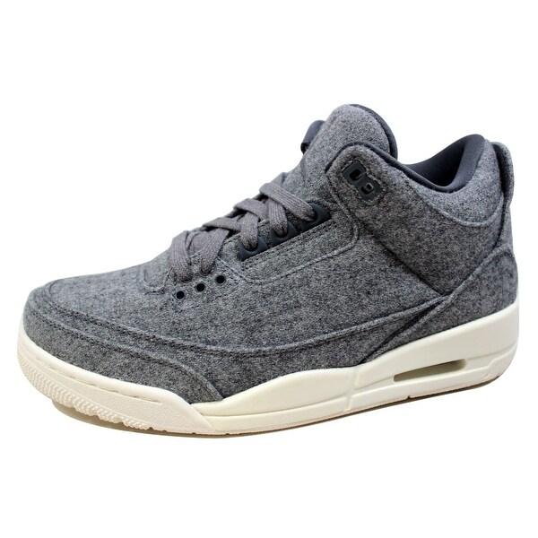 Nike Men's Air Jordan III 3 Retro Wool Dark Grey/Dark Grey-Sail 854263-004