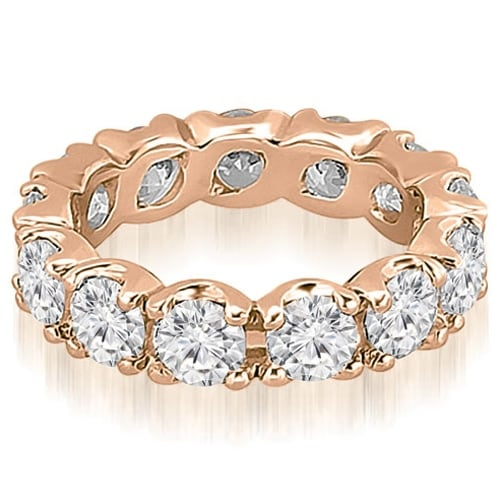 14K Rose Gold 4.80 cttw. Round Diamond Eternity Ring HI,SI1-2