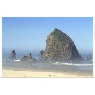 """Haystack rock on Cannon Beach, Oregon"" Poster Print"