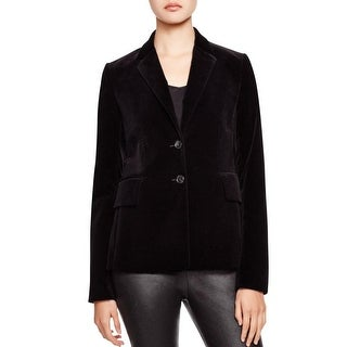 Theory Womens Teshonna Two-Button Blazer Velvet Double Button