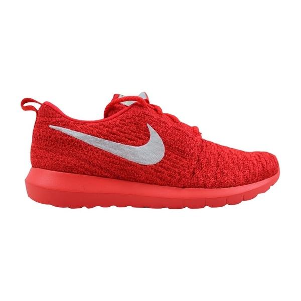 sale retailer 15e93 66cd4 ... Women s Athletic Shoes. Nike Roshe NM Flyknit Bright  Crimson White-University Red 843386-604 Women