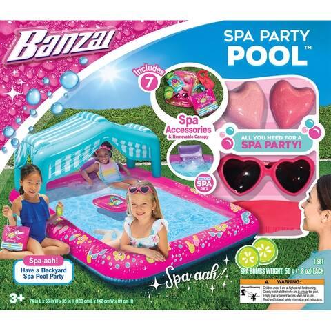 Banzai Spa Party Pool - Have a Backyard Spa Pool Party!