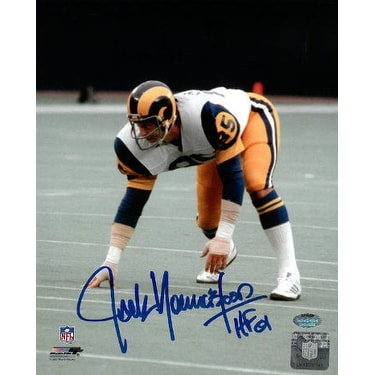 pretty nice b5104 a8967 Jack Youngblood signed Los Angeles Rams 8x10 Photo HOF 01 3 pt stanceblue  sig