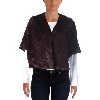 SL Fashions Womens Shawl/Wrap Faux Fur Hook-Eye