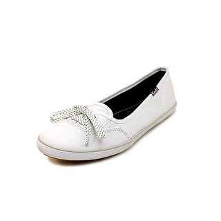 Keds Teacup Crochet Women Round Toe Canvas White Flats
