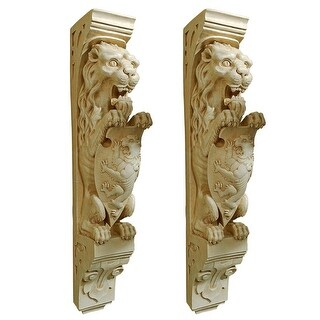 Manor Lion Wall Sculpture: Set of Two DESIGN TOSCANO lion sconce wall hanging
