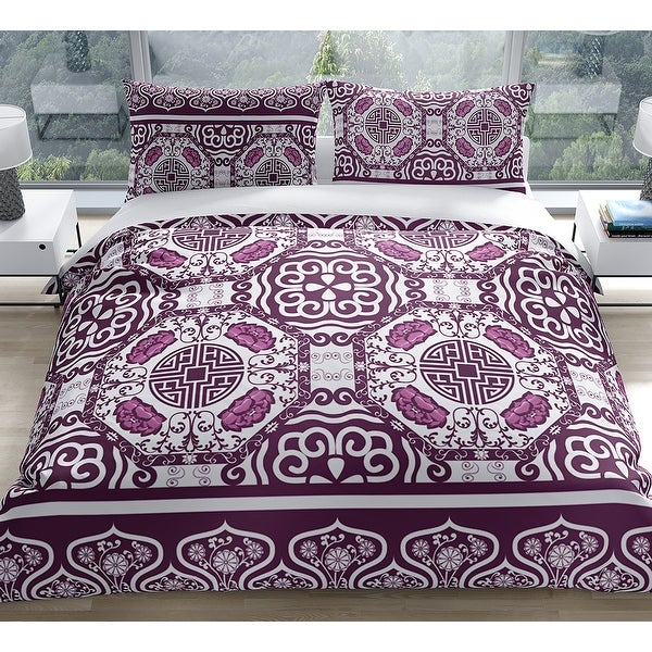 LASHA PLUM Duvet Cover by Kavka Designs. Opens flyout.