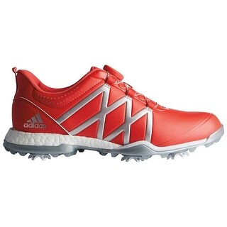 New Adidas Women's Adipower Boost BOA Real Coral/Silver Metallic Golf Shoes F33649